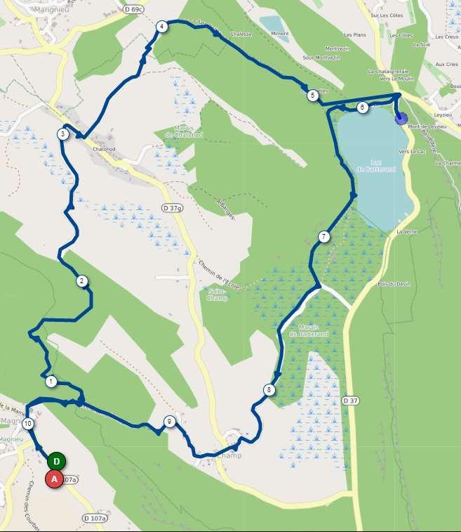 Magnieu parcours 9 km
